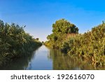 a river channel in danube delta ...   Shutterstock . vector #192616070