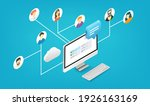 people working together...   Shutterstock .eps vector #1926163169