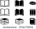 book icons set  book icons set...   Shutterstock .eps vector #1926178346
