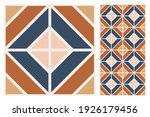 set of patterned azulejo floor... | Shutterstock .eps vector #1926179456