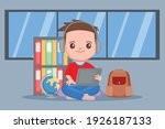 student studying at home....   Shutterstock .eps vector #1926187133