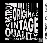 retro original vintage... | Shutterstock .eps vector #1926189836