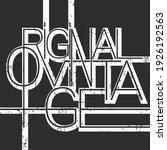 original vintage line design t... | Shutterstock .eps vector #1926192563