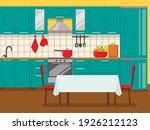 kitchen interior with furniture ...   Shutterstock .eps vector #1926212123