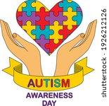autism awareness month.... | Shutterstock .eps vector #1926212126