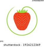 strawberry logo. isolated... | Shutterstock .eps vector #1926212369