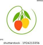 mango logo. isolated mango on... | Shutterstock .eps vector #1926213356