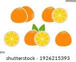 orange logo. isolated orange on ... | Shutterstock .eps vector #1926215393