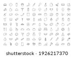 food and cooking big icon set....   Shutterstock .eps vector #1926217370