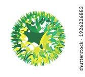 swing circle logo design eps | Shutterstock .eps vector #1926226883