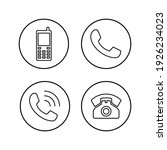 phone icon set. call icon... | Shutterstock .eps vector #1926234023