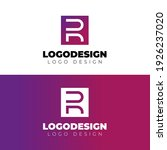minimal and modern r letter... | Shutterstock .eps vector #1926237020
