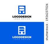 r logo design blue logotype... | Shutterstock .eps vector #1926237026