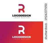r letter logo design minimal... | Shutterstock .eps vector #1926237050