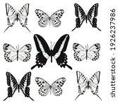 black and white butterflies set | Shutterstock .eps vector #1926237986