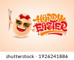 smiling easter egg with... | Shutterstock .eps vector #1926241886