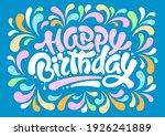 happy birthday festive design.... | Shutterstock .eps vector #1926241889