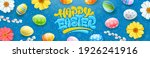 happy easter banner with... | Shutterstock .eps vector #1926241916