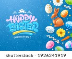 easter banner or poster with... | Shutterstock .eps vector #1926241919