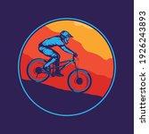 vector mountain biking colorful ...   Shutterstock .eps vector #1926243893