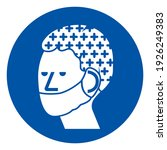 wear hair net and mask symbol...   Shutterstock .eps vector #1926249383