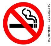 no smoking symbol or sign | Shutterstock . vector #1926261950