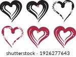 black and dark red heart icons... | Shutterstock .eps vector #1926277643