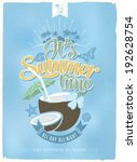 blue vintage  retro  its summer ... | Shutterstock .eps vector #192628754