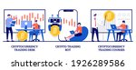 cryptocurrency trading desk and ... | Shutterstock .eps vector #1926289586