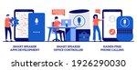 smart speaker apps development  ... | Shutterstock .eps vector #1926290030