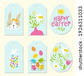 easter tags set. cute colorful...   Shutterstock .eps vector #1926311033