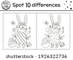 easter find differences game... | Shutterstock .eps vector #1926322736