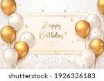 elegant golden ballon happy... | Shutterstock .eps vector #1926326183