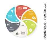 vector circle chart infographic ... | Shutterstock .eps vector #1926338963