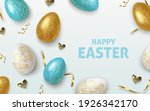 easter greeting background with ... | Shutterstock .eps vector #1926342170