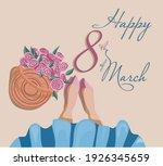 blue skirt and basket of roses | Shutterstock .eps vector #1926345659