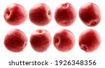 a set of red apples. isolated... | Shutterstock . vector #1926348356