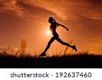 Running Woman. Healthy Running...