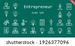 entrepreneur icon set. line... | Shutterstock .eps vector #1926377096