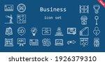 business icon set. line icon...