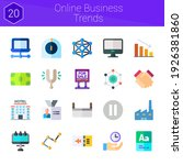 online business trends icon set....