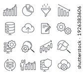 set of data analysis icon.... | Shutterstock .eps vector #1926383606