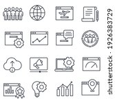 set of seo icon. search engine... | Shutterstock .eps vector #1926383729