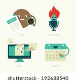 web icons vector set flat...