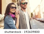 portrait of young couple in the ... | Shutterstock . vector #192639800