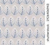 vector hand drawn leaf motif... | Shutterstock .eps vector #1926406943