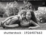Two Happy Little Girls Laughing ...