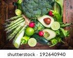 Fresh Green Organic Vegetables...