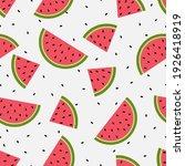 Seamless Watermelons Pattern....