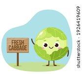 cartoon green cabbage character....   Shutterstock .eps vector #1926419609